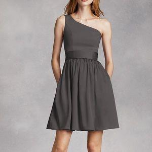 White by Vera Wang Short One Shoulder Dress